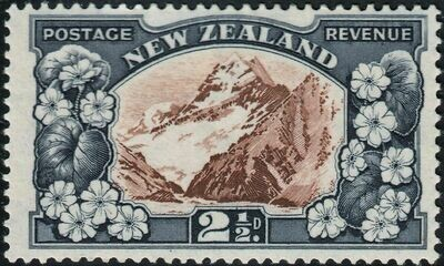 New Zealand 1936 KGV 2½d Mt Cook Perf 14 MUH