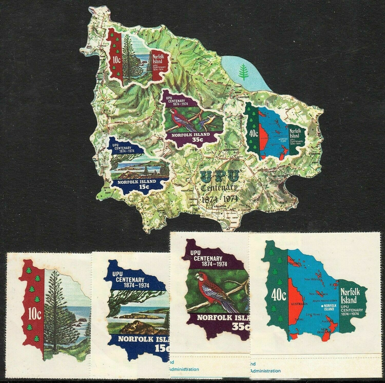 Norfolk Island 1974 UPU Set MUH