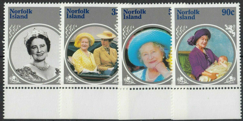 Norfolk Island 1985 QEII Queen Mother Set Marginal MUH