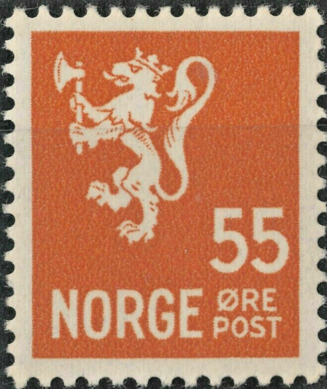 Norway 1937 55ore Orange MUH