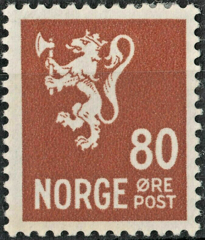 Norway 1937 80ore Brown MH