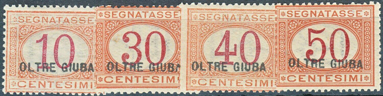 Oltra Giuba (Jubaland) 1925 Postage Dues Part Set MH