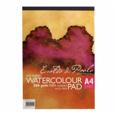 Eraldo Di Paolo A4 Watercolour Pad Hot Pressed 300gsm 10 Sheets