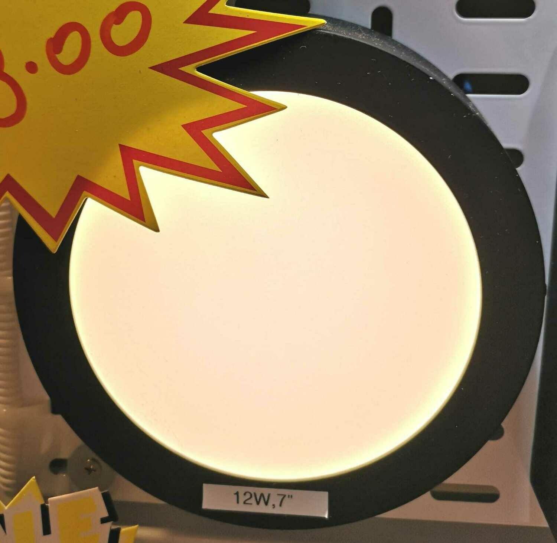 Led ceiling light, Round (Black/White)