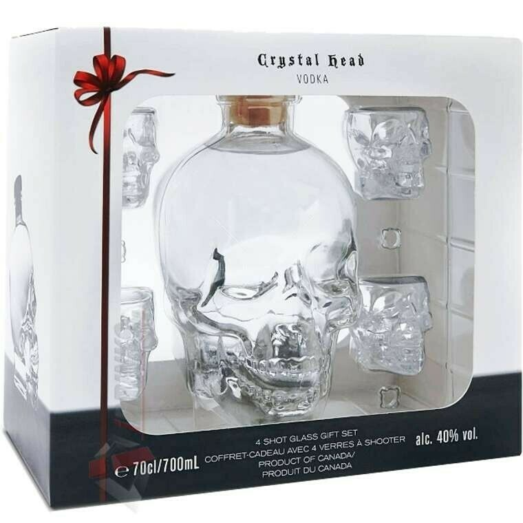 Crystal Head Vodka 0,7l 40% DD + 4 pohár