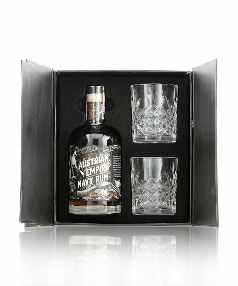 Austrian Empire Navy Rum Solera 18 years 0,7l 40% + 2 pohár