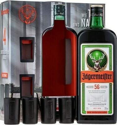 Jägermeister Day&Night 1,75l 35% + 4 pohár