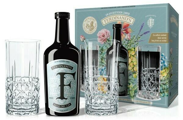 Ferdinands Saar Dry Gin 0,5l 44% GB + 2 pohár