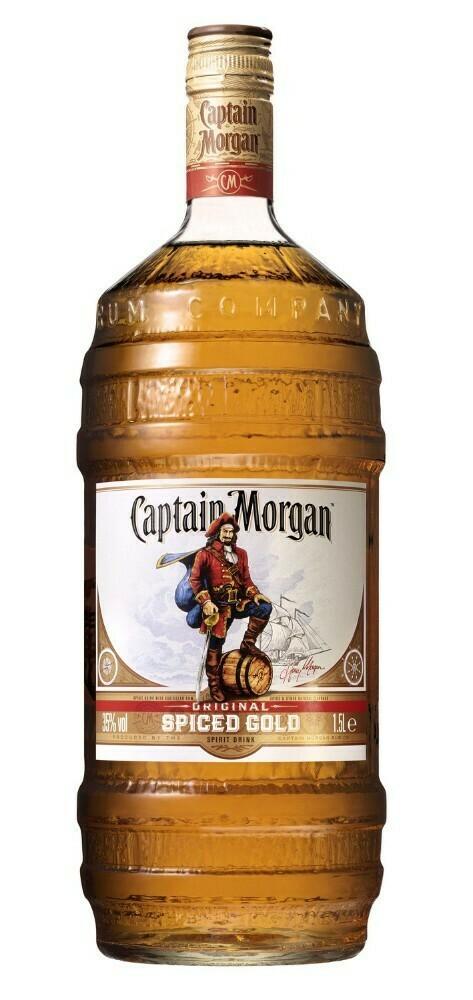 "Captain Morgan Spiced Gold ""Barrel Bottle"" 1.5l 35%"