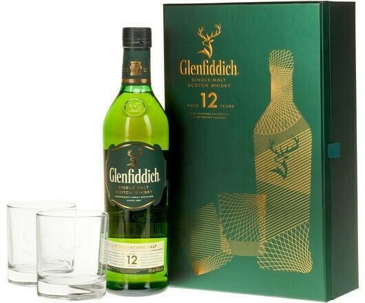 Glenfiddich 12 years 0,7l 40% + 2 pohár