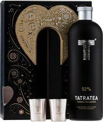 TATRATEA Eredeti Tea (fekete) 0,7l 52% + 2 pohár