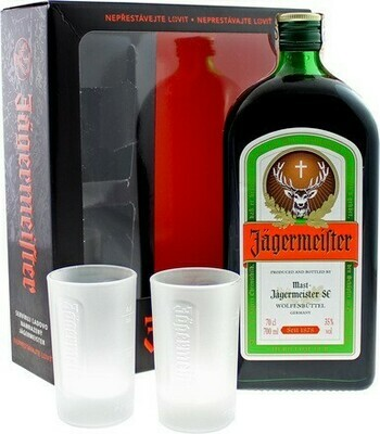 Jägermeister 0,7l 35% + 2 pohár