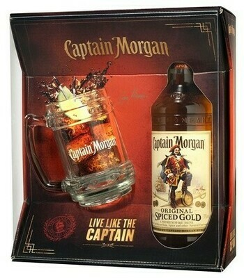 Captain Morgan Spiced Gold 0,7l 35% + korsó