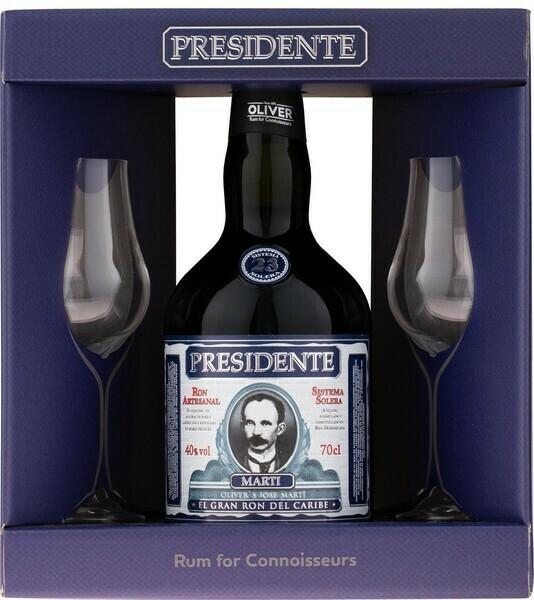 Presidente Marti 23y 0,7l 40% GB +2 pohár