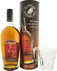 El Dorado 5 years 0,7l 40% + 1 pohár