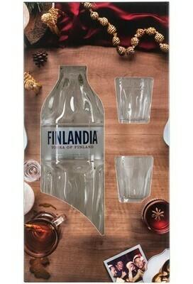 Finlandia 0,7l 40% + 2 pohár