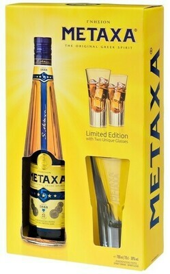Metaxa 5* 0,7l 38% + 2 pohár