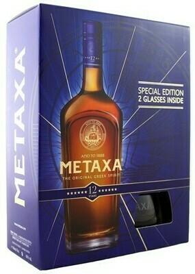Metaxa 12* 0,7l 40% + 2 pohár