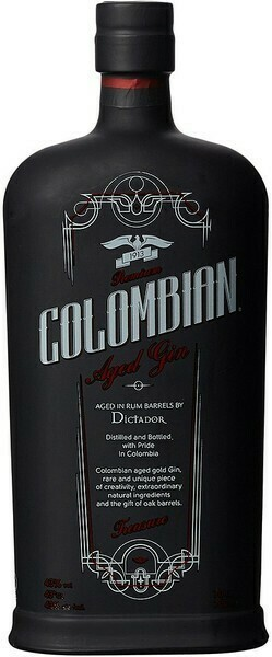 Dictador Colombian Aged Gin Treasure Black 0,7l 43%