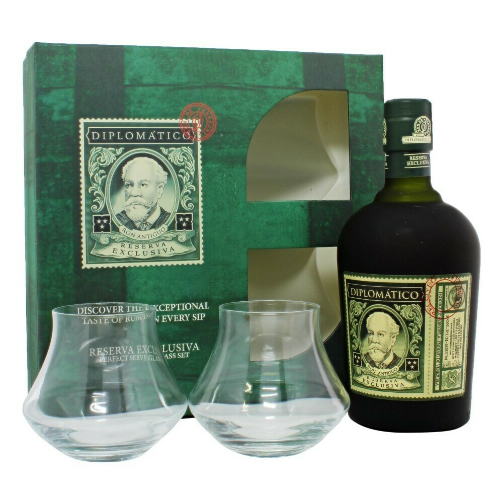 Diplomatico Reserva Exclusiva 12 years 0,7l 40% + 2 pohár