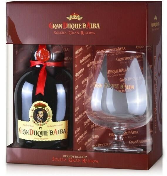 Gran Duque de Alba Brandy 0,7l 40% + 1 pohár