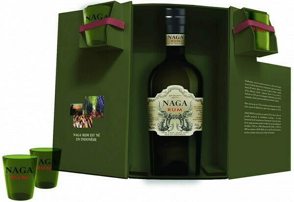 Naga Rum 0,7l 40% + 2 pohár