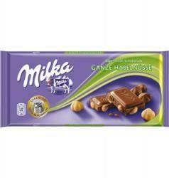 Milka Egész Mogyorós tejcsokoládé (100g)