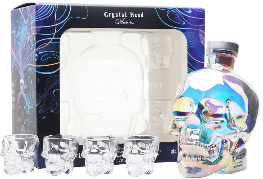 Crystal Head Aurora 0,7l 40% + 4 pohár