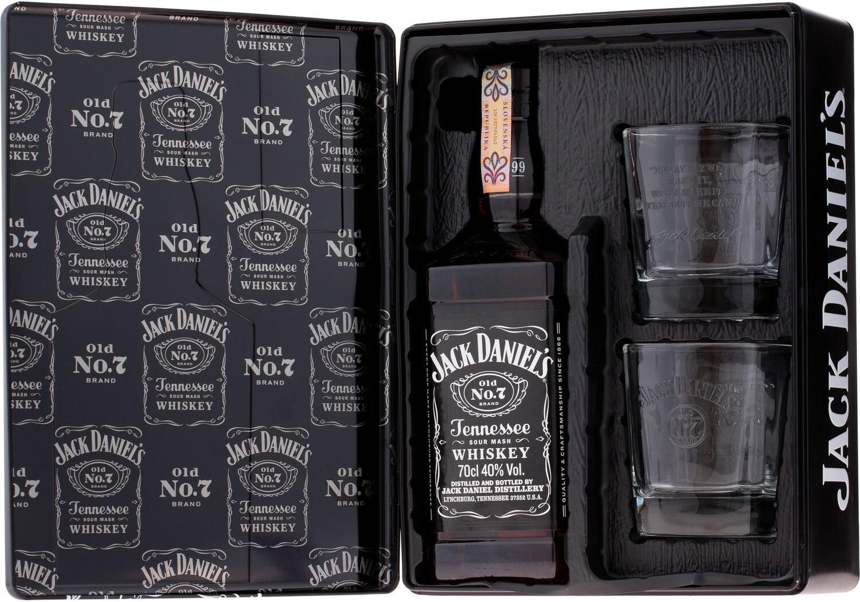 Jack Daniels 0,7l 40% fémdobozos + 2 pohár