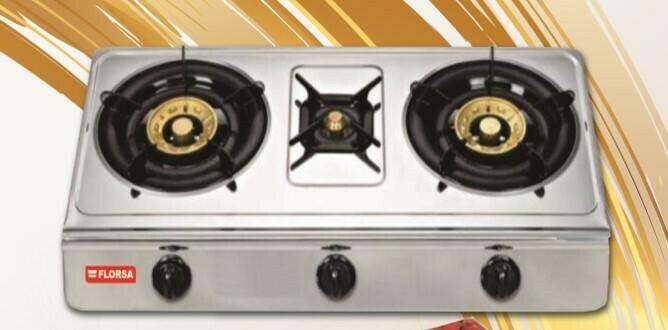 FLO-03 FLORSA 3 burners  Gas stove