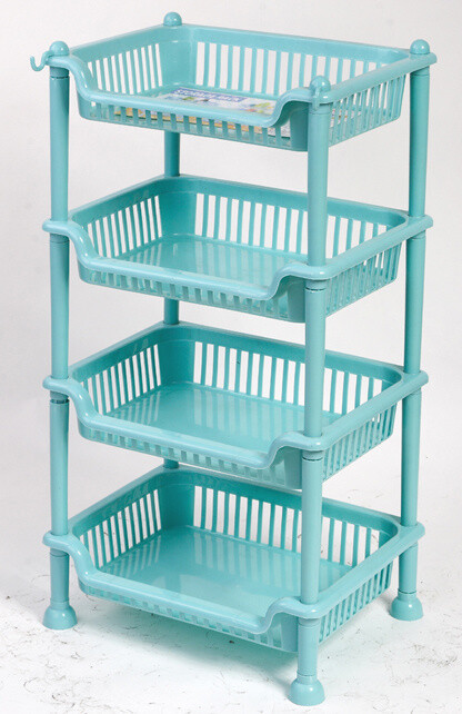 Plastic shelf
