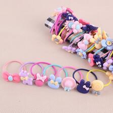 Girls Hairband Tie Rope Ring Elastic /10 pcs