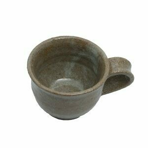 Contemporary Short Round Handmade Baked Clay Mug