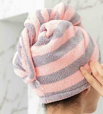 Magic Microfiber Bathing Quick Dry Hair Cap Towel Bathroom Hat
