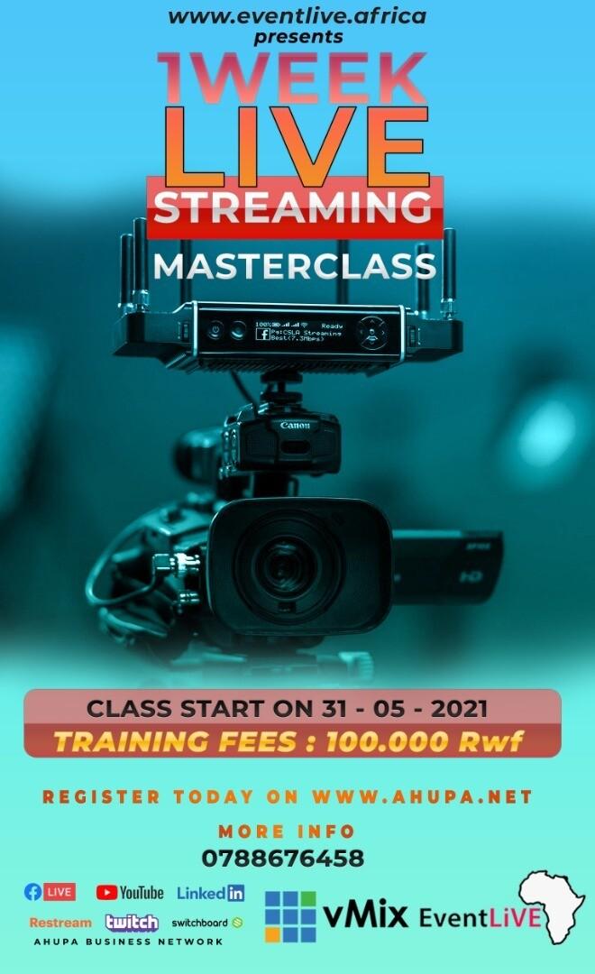 Live Streaming MASTER CLASS - KICUKIRO