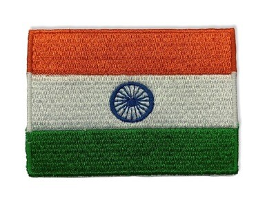 Tri-Color India National Flag Embroidered Patch (Set of 3)