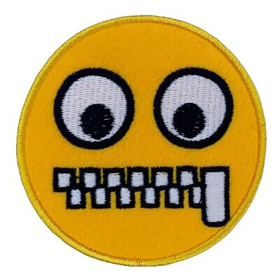 Zip Mouth Embroidered Patches (Pack of 3 Pcs)