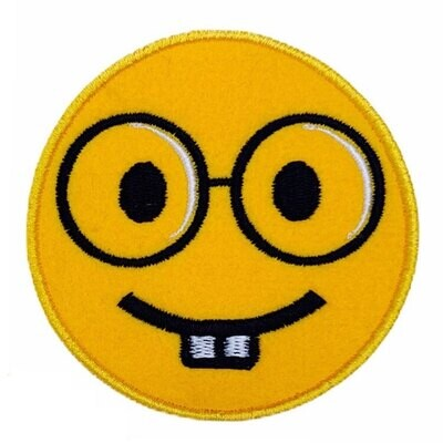 Happy Face Sew On Embroidery Fabric Patch (Pack of 3 Pcs)