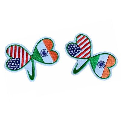 USA INDIA Friendship Flag Patch (Pack of 2 Pcs)
