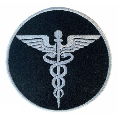 3 Pcs of Embroidered Doctor's Logo or Caduceus Sew On Patch