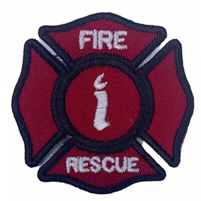 Fire & Rescue Sew On Embroidered Fabric Patch (Pack of 3 Pcs)