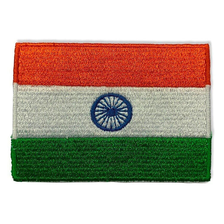 Iron-On Embroidered Indian National Flag Patch
