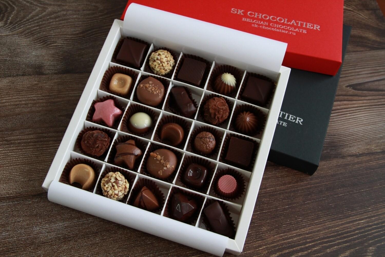 """Шоколадные конфеты ассорти """"SK CHOCOLATIER № 25"""""""