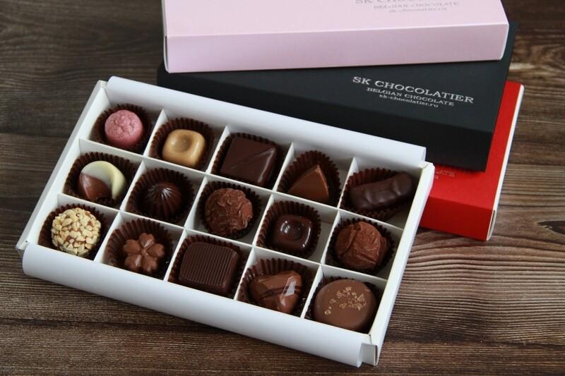 """Шоколадные конфеты ассорти """"SK CHOCOLATIER № 15"""""""