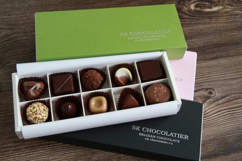 """Шоколадные конфеты ассорти """"SK CHOCOLATIER № 10"""""""