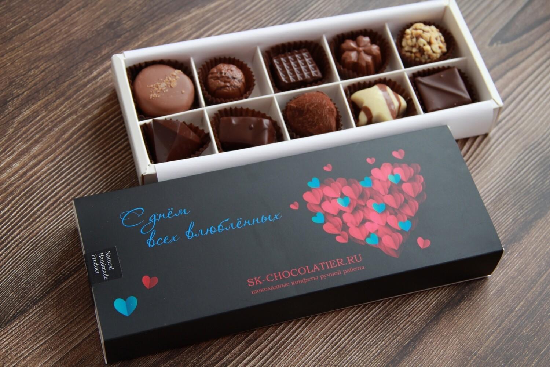 """Шоколадные конфеты """"SK CHOCOLATIER № 10"""" ко дню Всех Влюбленных"""