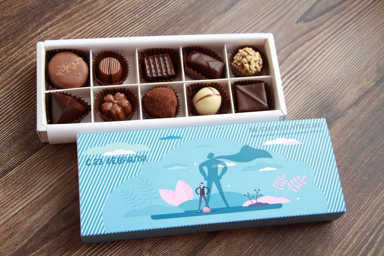 """Шоколадные конфеты """"SK CHOCOLATIER № 10"""" к 23 февраля"""