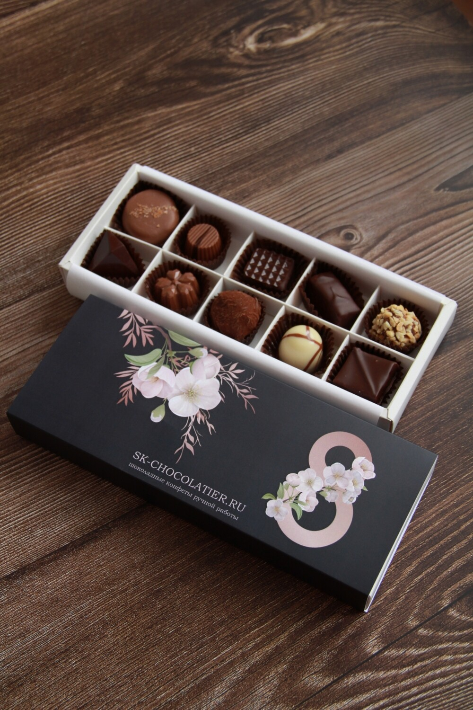 """Шоколадные конфеты """"SK CHOCOLATIER № 10"""" к 8 марта"""