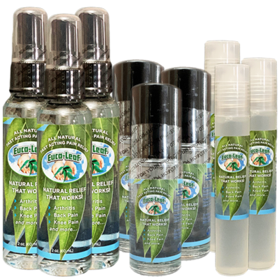 SUPER PACKAGE OF NINE: (3) 1/2 OZ ROLL-ONS, (3) 1 OZ ROLL-ONs & (3) 2 OZ SPRAY BOTTLES