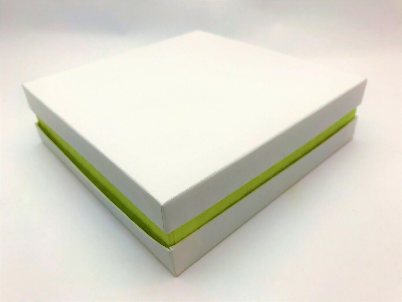White and Green Gift Box